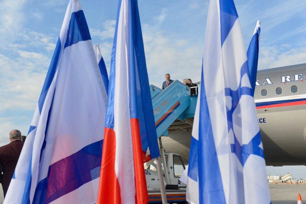 Prezident Miloš Zeman dorazil na státní návštěvu Izraele. (25. 11. 2018)