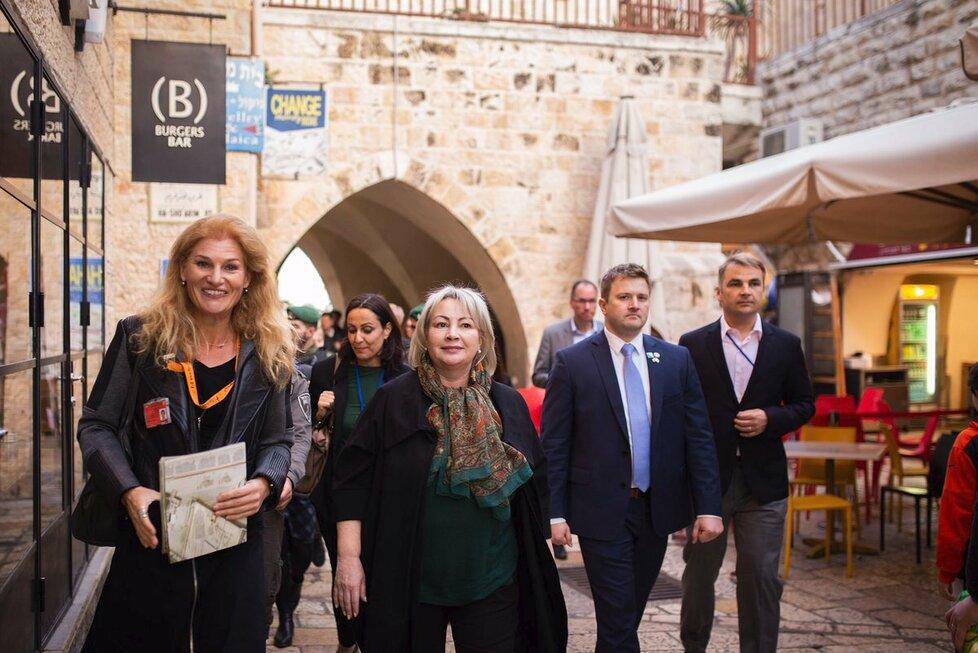 Ivana Zemanová na návštěvě Jeruzaléma (26. 11. 2018)