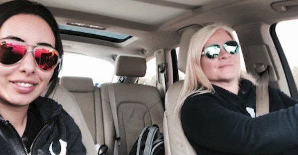 Princezna Latifa se svou kamarádkou a učitelkou Tinou Jauhiainenovou. Finka jí pomohla utéct z Dubaje.