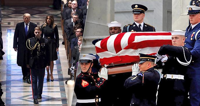 Pohřeb amerického prezidenta George Bushe staršího (5.12.2018)