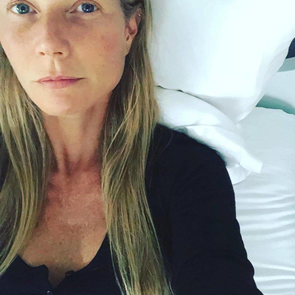 Gwyneth Paltrow se nebojí ukázat tvář bez make-upu