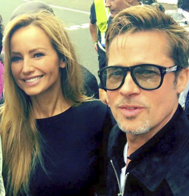 Adriana Sklenaříková a Brad Pitt