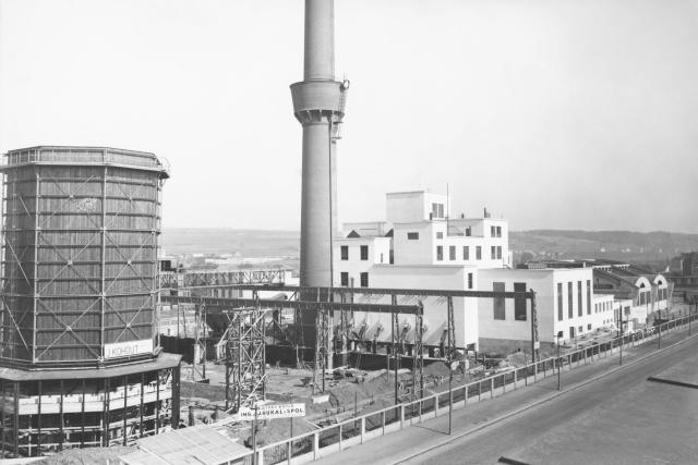 Spalovna ve Vysočanech, rok 1933.