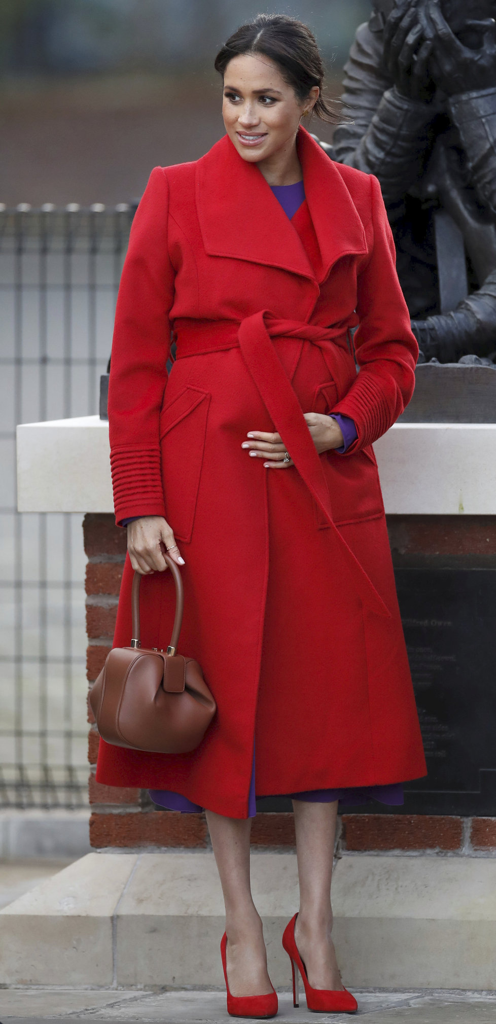 Těhotná Meghan Markle vypadala výborně.