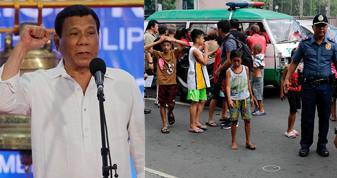 Duterteho protidrogová válka pokračuje. Chce zatýkat už dvanáctileté děti.
