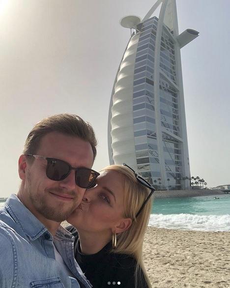 Markéta s přítelem na dovolené v Dubaji