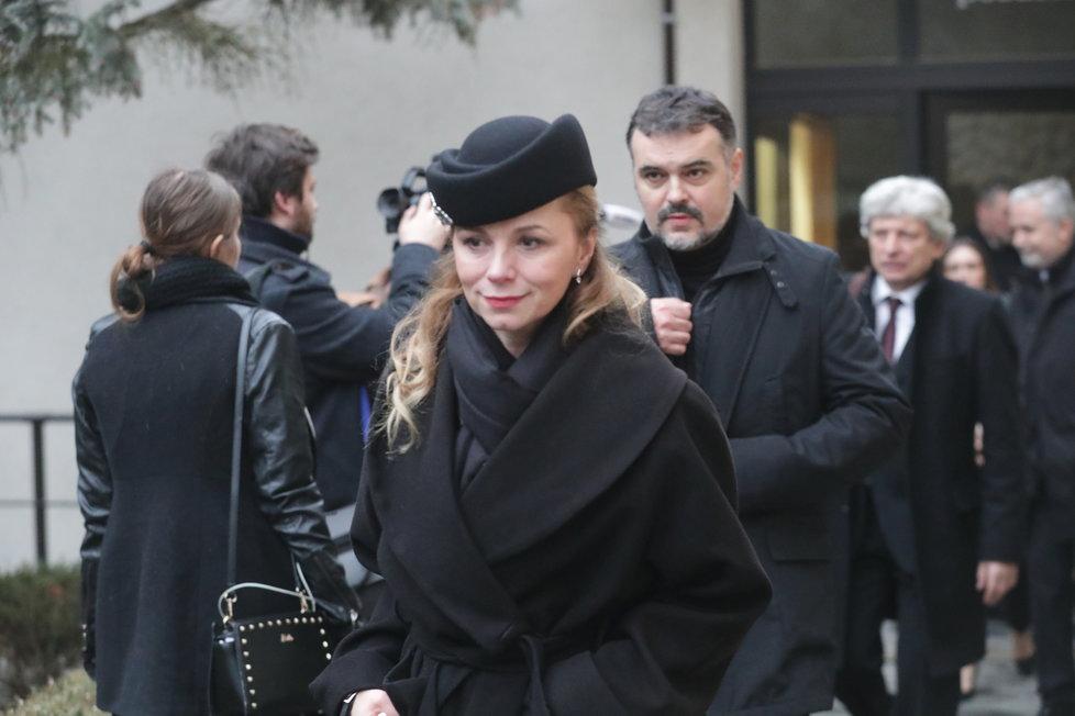 Pohřeb Luďka Munzara: Martina Kociánová