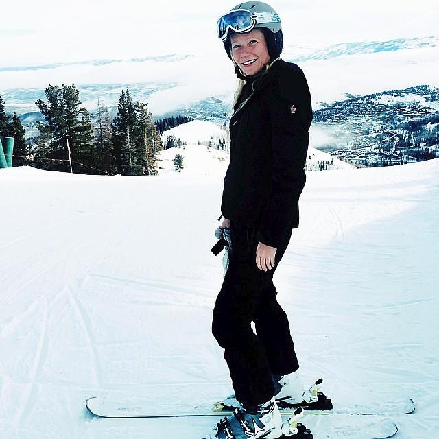 Gwyneth Paltrow miluje zimní sporty - hlavně lyžování