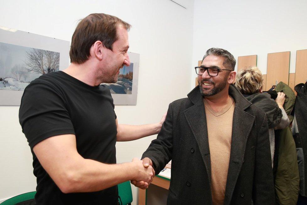 Zdeněk Godla a Martin Hofmann ze seriálu Most!