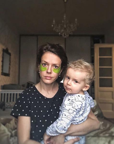 Andrea Kerestešová Růžičková se synem