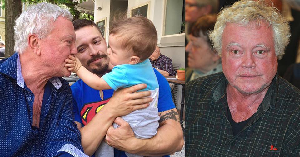 Petr Oliva se synem a vnoučkem