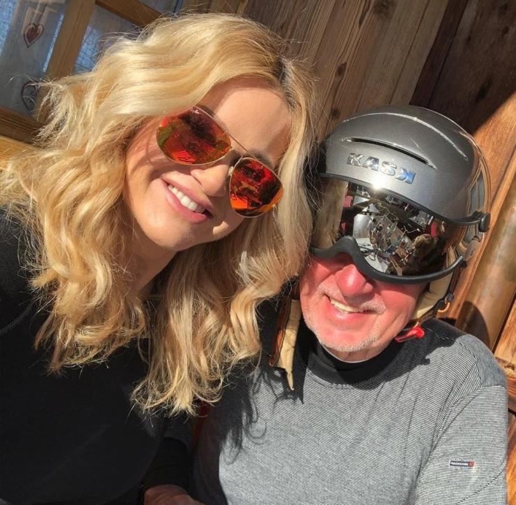 Andrej Babiš na zimní dovolené v únoru 2019: S manželkou Monikou vyrazili do Alp