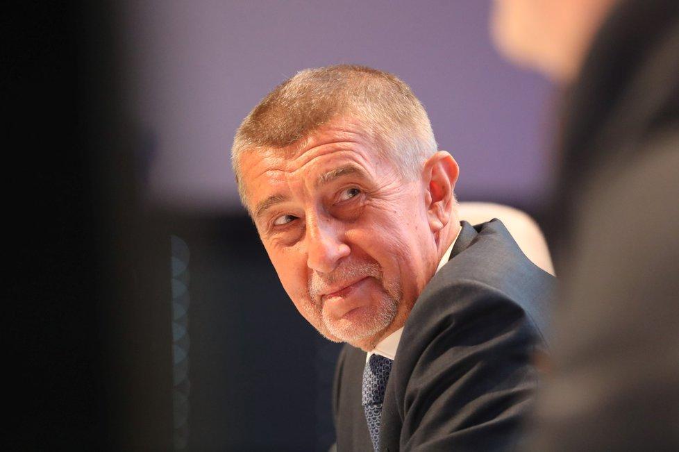 Premiér Andrej Babiš (ANO) dostal od delegátů ANO mandát předsedy hnutí na další dva roky (17. 2. 2019)