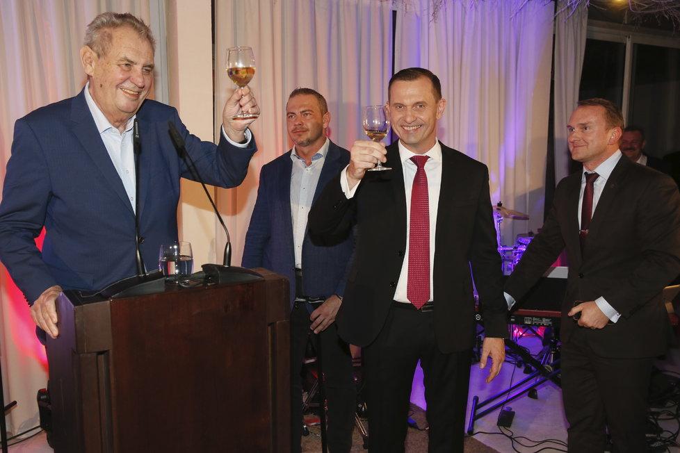 Miloš Zeman na padesátinách Jaromíra Soukupa