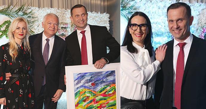 Na oslavě padesátin Jaromíra Soukupa nechyběli ani Jaroslav Faltýnek (ANO) s partnerkou Martinou a Alexandra Udženija (ODS)