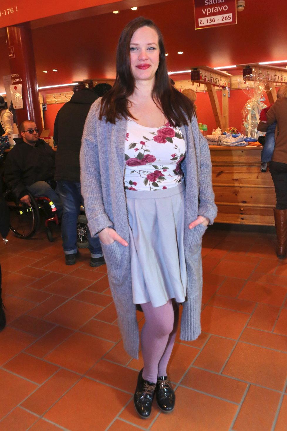 Kristýna Leichtová půl roku po porodu.