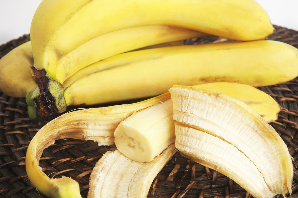slupky banány