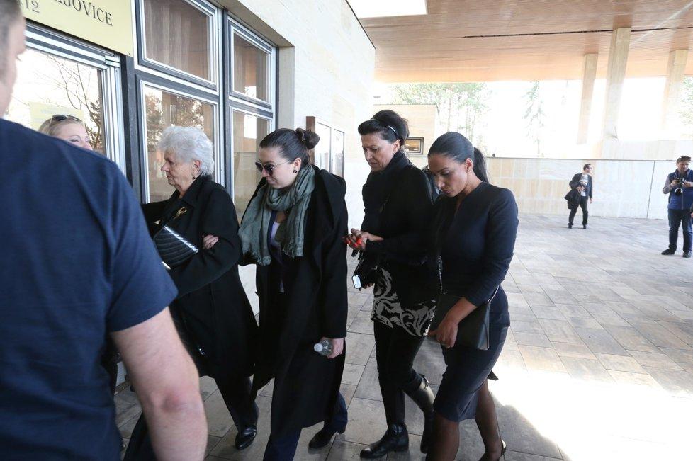 Pohřeb Jiřího Pomeje: Andrea Pomeje