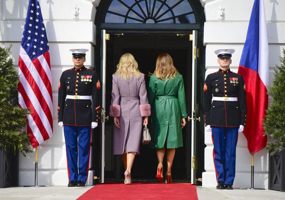 Setkání prezidenta USA Donalda Trumpa s předsedou české vlády Andrejem Babišem v Bílém domě.