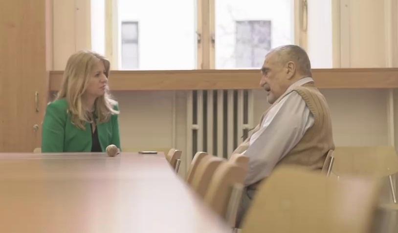 Schwarzenberg v nemocnici se slovenskou prezidentskou kandidátkou Zuzanou Čaputovou