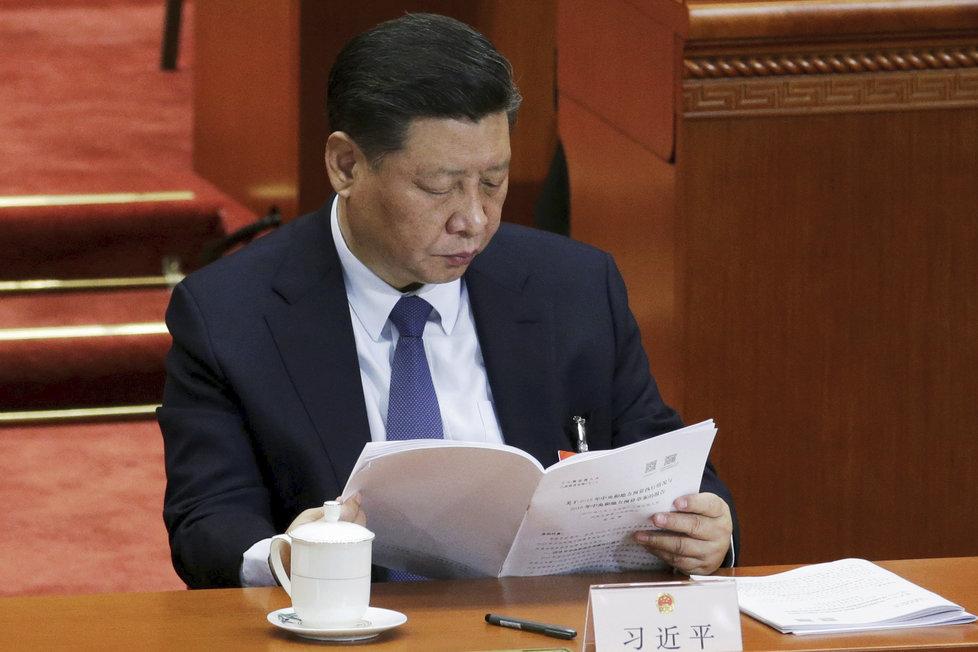 Čínský prezident Si Ťin-pching se předvdl se šedivými vlasy.