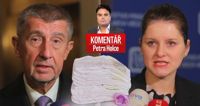 Premiér Andrej Babiš (ANO), ministryně práce Jana Maláčová (ČSSD) a spor o zvyšování rodičovského příspěvku