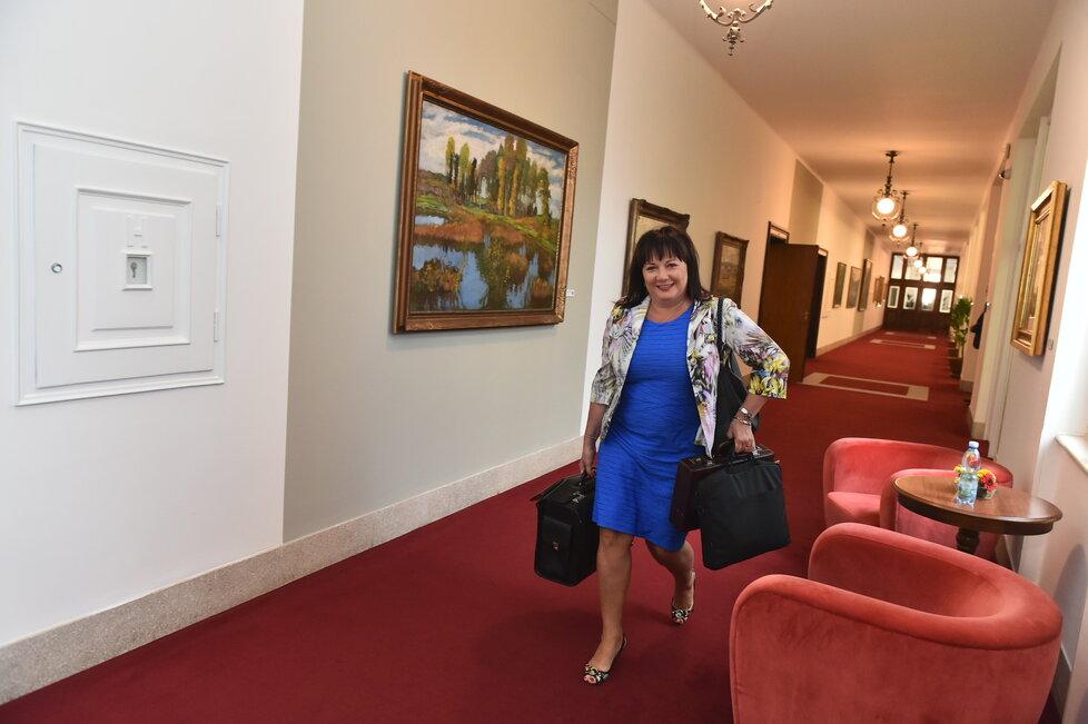 Alena Schillerová (za ANO) na Úřadu vlády