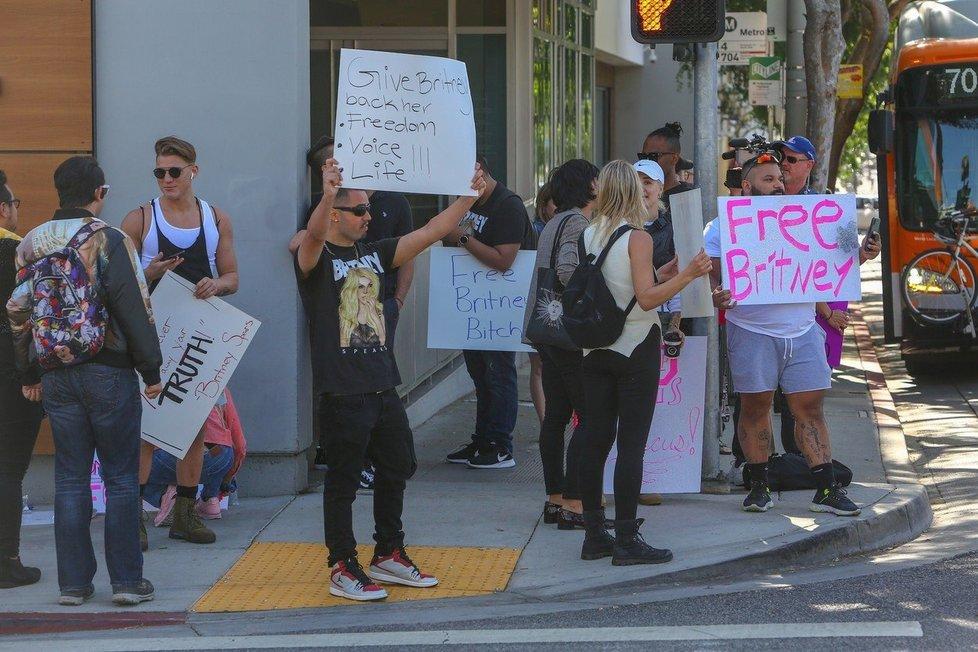 Free Britney protest v Los Angeles