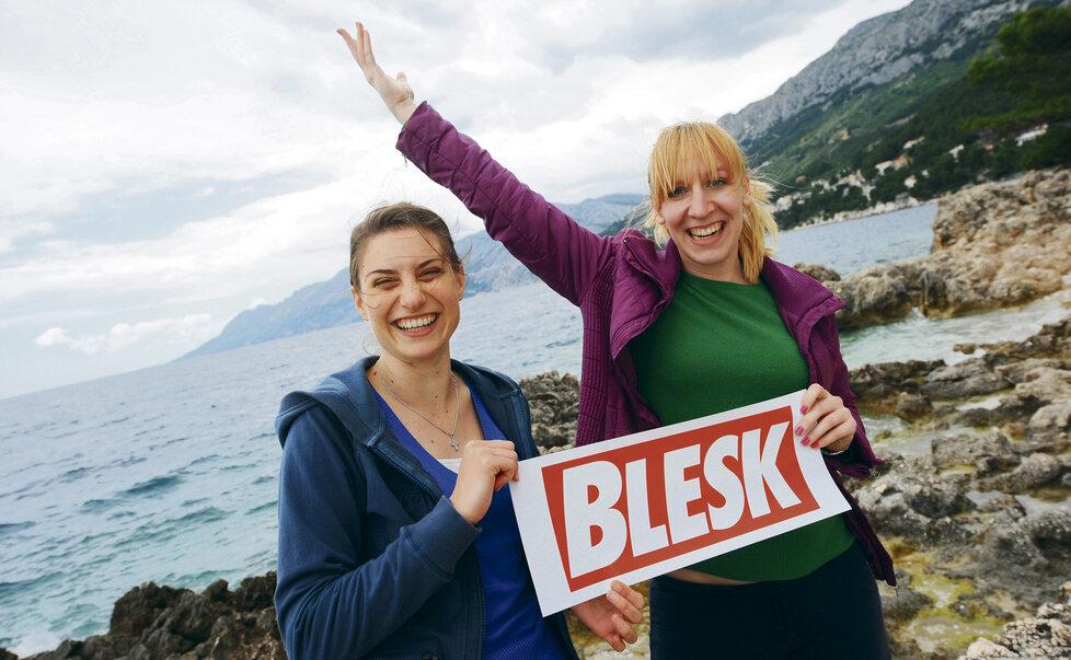 V Chorvatsku se Blesk pozdravil se svými čtenářkami
