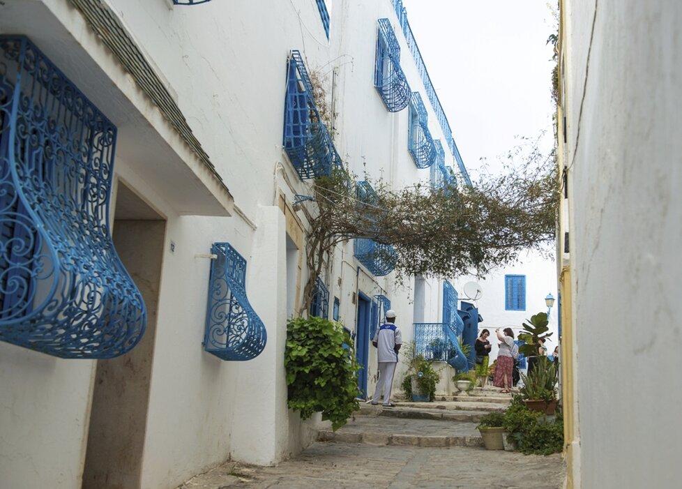 Nejlepší místo na romantiku je v Sidi Bou Said, modrobílém městečku ze 13. století.