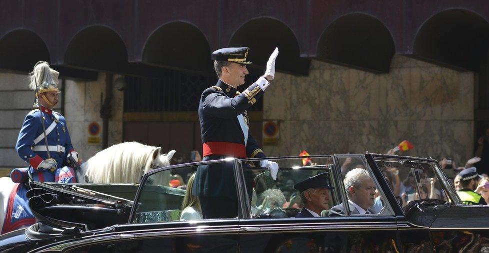 Španělský král Felipe VI. při své korunovaci