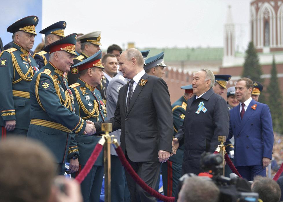Ruský prezident Vladimir Putin na oslavách konce druhé světové války v Moskvě (9.5. 2019)