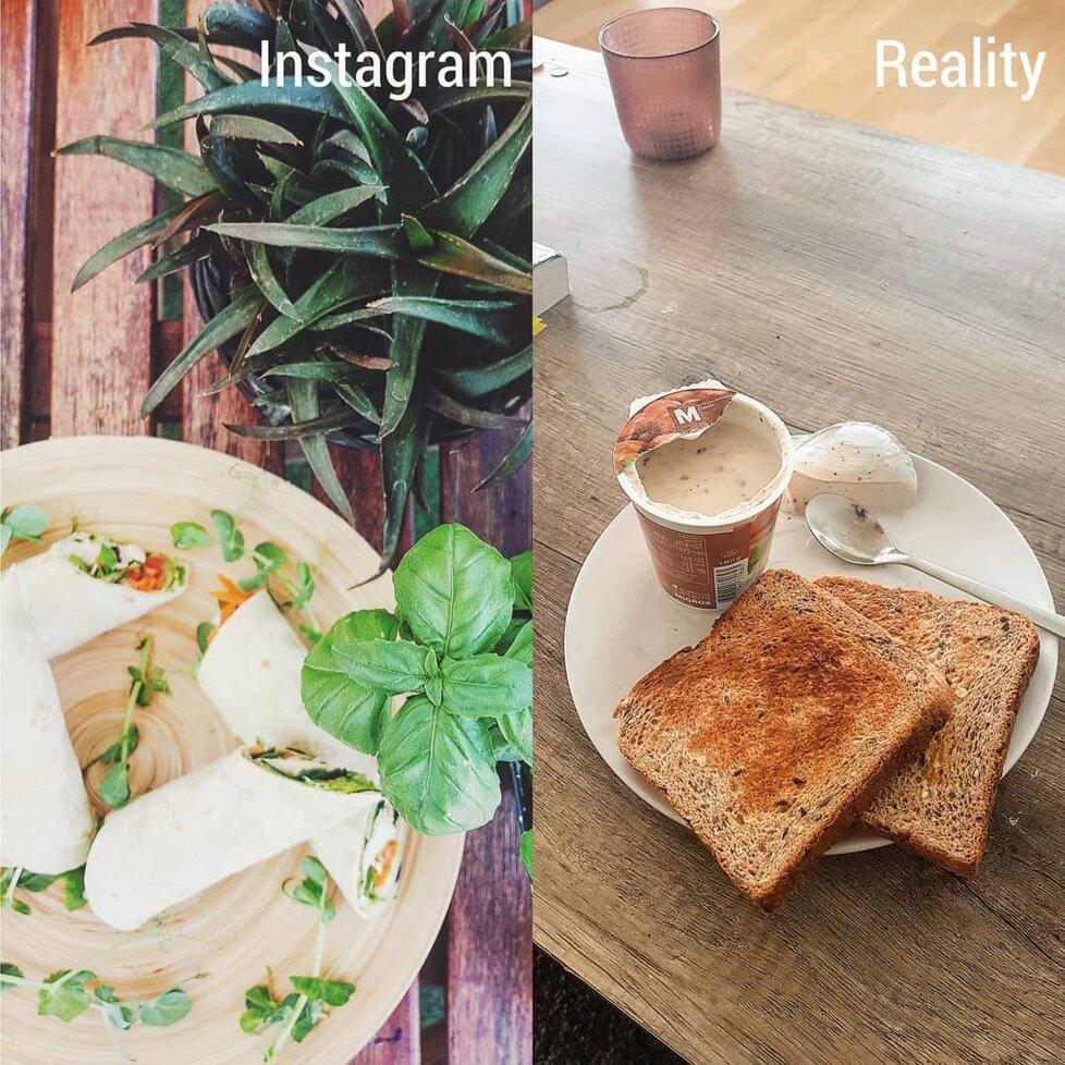 Jídla, která si fotíme na svoje profily, nejsou mnohdy ani naše...