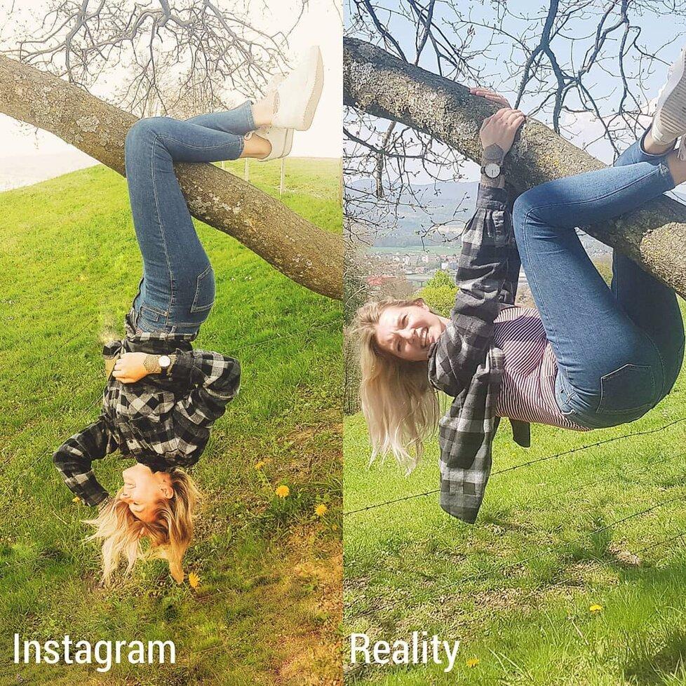 Instagram vs. realita!