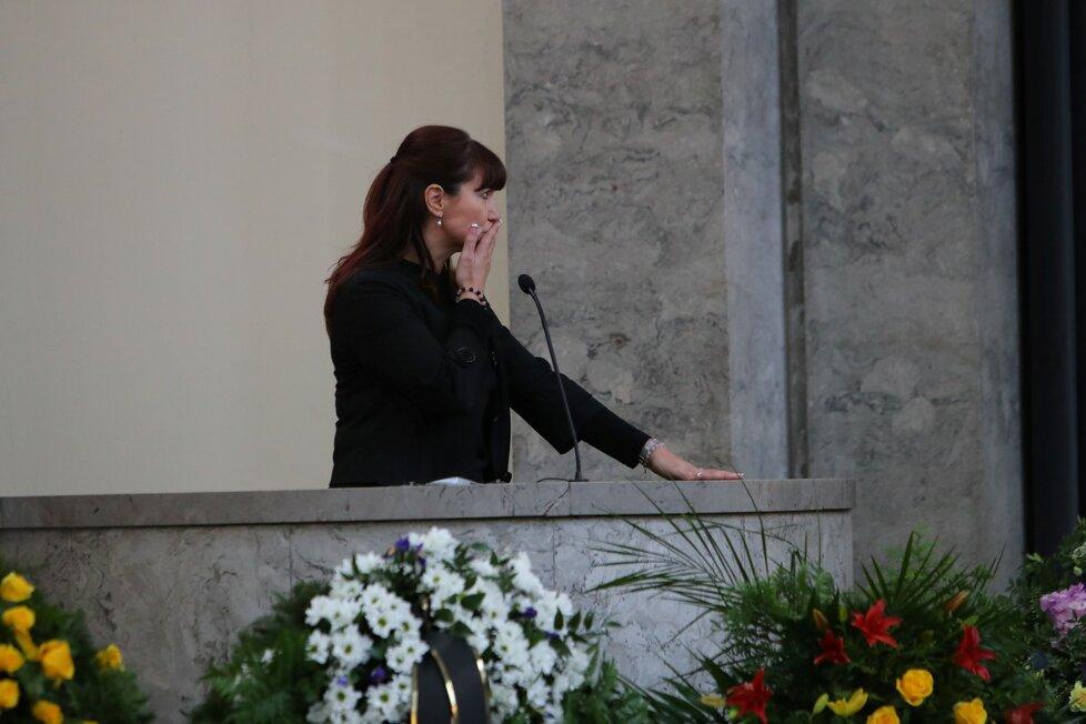 Rodinné rozloučení s Václavem Postráneckým: Dcera
