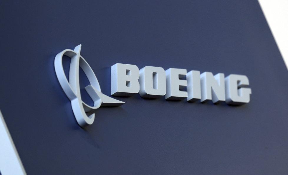 Logo společnosti Boeing.
