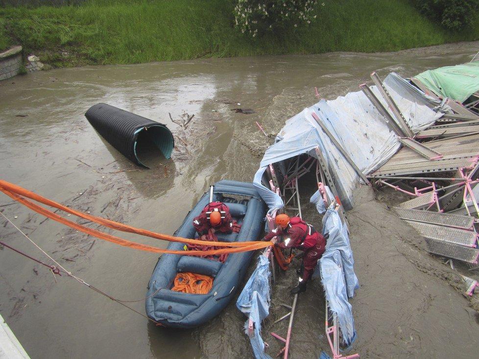 Záplavy ve Zlínském kraji