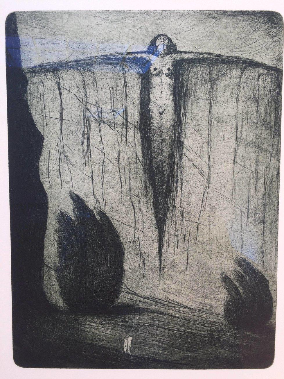 Pověstný byl Drtikol svými fotografickými akty. I na malbách se tu a tam nahé ženské tělo objeví.