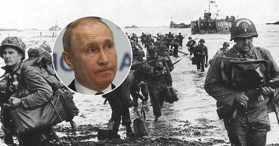 Vladimir Putin nedostal pozvánku na výročí oslav v Normandii.