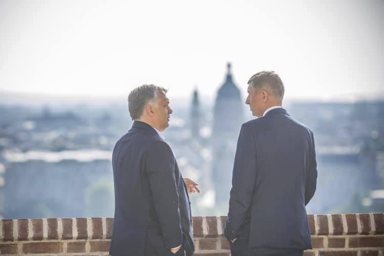 Andrej Babiš na návštěvě Budapeště - s Viktorem Orbánem (13.6.2019)
