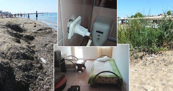Dovolená tří rodin za 122 tisíc skončila v hotelu bez klimatizace a se špinavou pláží.