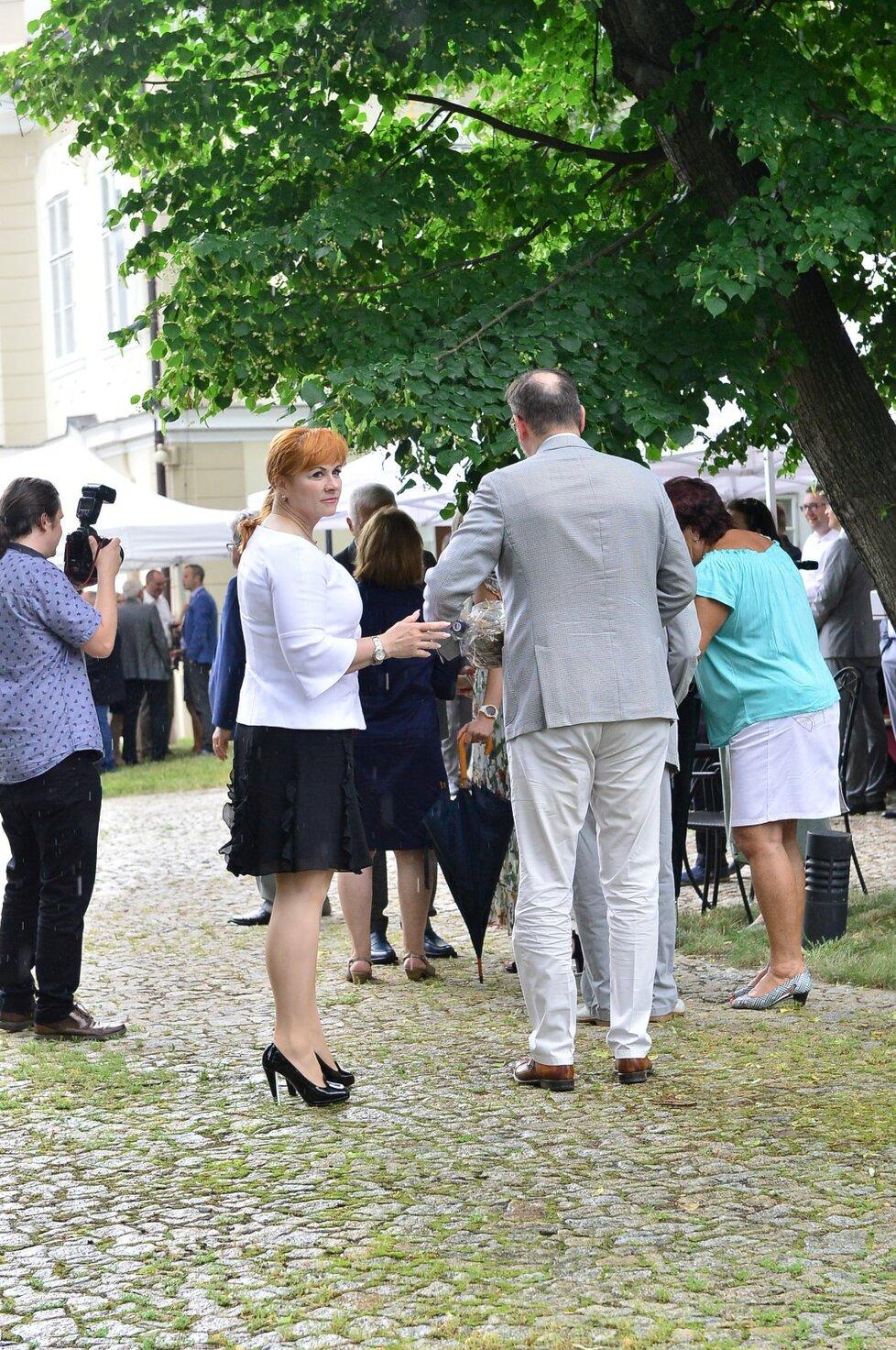 Manželé Nečasovi na oslavě 78. narozenin exprezidenta Václava Klause (19. 6. 2019)