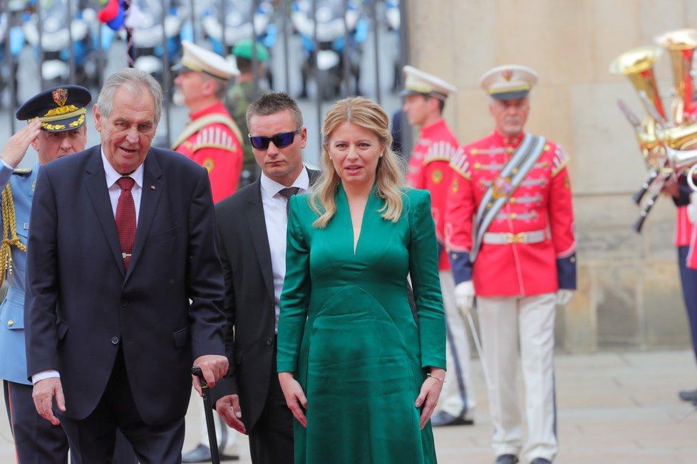 První oficiální návštěva prezidentky Slovenska Zuzany Čaputové v ČR (20.6.2019).
