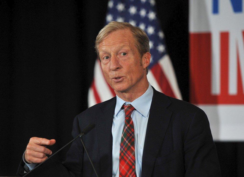 O demokratickou prezidentskou nominaci se ucházel miliardář Steyer