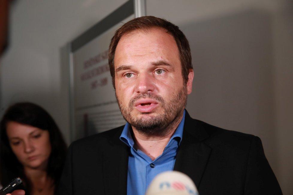 Kandidát na post ministra kultury ČSSD Michal Šmarda odpovídá na otázky médií (15. 7. 2019)