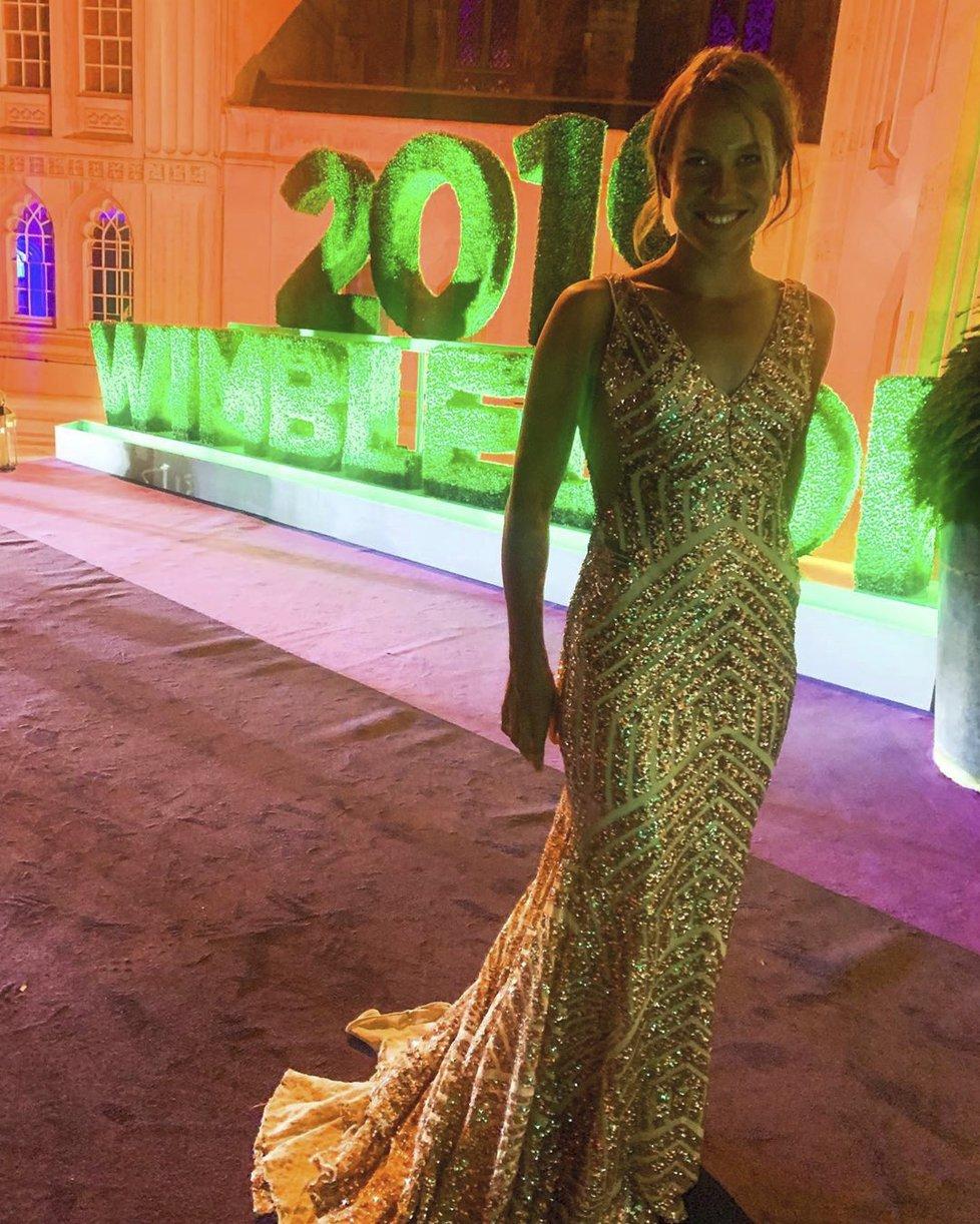 Barbora Strýcová si vybrala na wimbledonský galavečer zlaté šaty