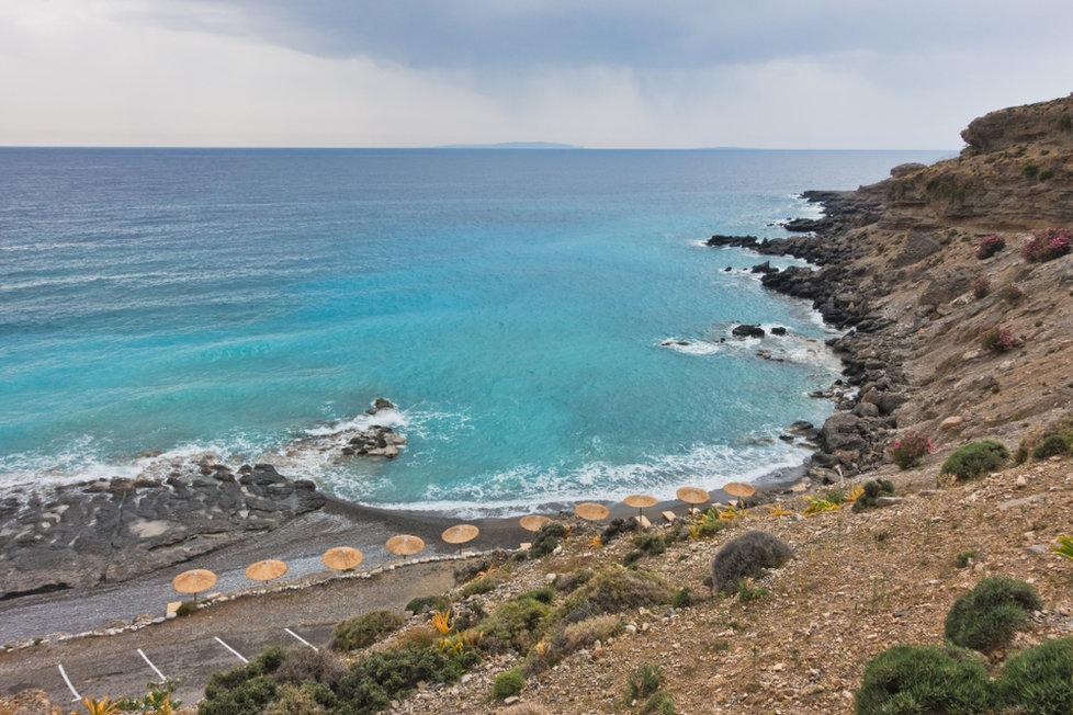 Pláž Filaki na řecké Krétě