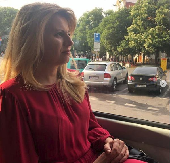 Slovenská prezidentka Zuzana Čaputová v tramvaji (20.7.2019)