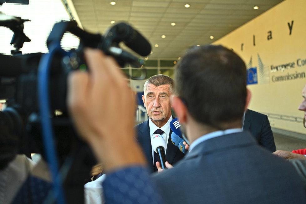 Premiér Babiš v Bruselu (28. 7. 2019)