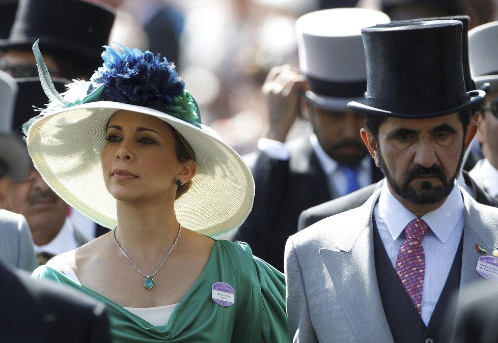 Princezna Hajá s manželem, dubajským šejchem Muhammadem.